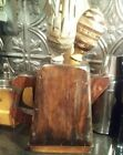 HAND CARVED WOODEN  PITCHER 1800'S pyramid shaped original varnish farmhouse