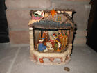 Kirkland water window lighted musical nativity scene with original box