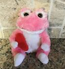 Ty Beanie Babies LOVIE Pink and White Frog w/ Red Heart, Plush 2011 w/Tag EUC