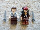 LEGO Pirates Of The Caribbean - Rare - Jack Sparrow & Will Turner - From 4184