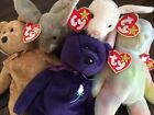 5 TY NIBBLER NIBBLY Hippie Cashew Princess Beanie Baby Bean Bag Plush Toys W Tag
