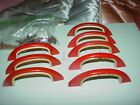 8 Red Bakelite drawer pulls, Vintage Originals 3 1/4