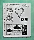 TIM HOLTZ  From the Heart  BANK of TRUE LOVE  CLING Rubber Stamps NEW