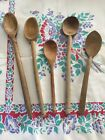 Wonderful Antique Primitive Hand Carved Wood Spoons Includes Scoop And Ladle