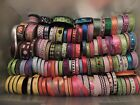 LARGE LOT OVER 100 Rolls Ribbon and New CRAFTING HAIR RIBBON WEDDINGS ETC