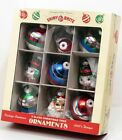 Christopher Radko Shiny Brite Nine Christmas Tree Ornaments Santa Claus Snowman