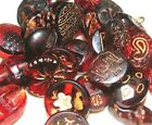 RUBY RED GLASS BUTTONS