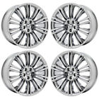 20 JAGUAR XJ XK XJL KASUGA PVD CHROME WHEELS RIMS FACTORY OEM 59864 65 EXCHANGE