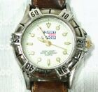 Tommy Hilfiger Diver Style Ladies Wrist Watch 300M-1000Ft White Face Leather