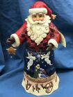 Jim Shore Heartwood Creek Joy to the World Santa 11 4058782 AS IS