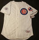 NEW CHICAGO CUBS AUTHENTIC JERSEY SIZE 60 4XL, ERNIE BANKS PINSTRIPE MAJESTIC