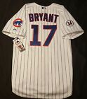 NEW CHICAGO CUBS AUTHENTIC JERSEY SIZE 52 2XL, KRIS BRYANT PINSTRIPE MAJESTIC