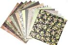 12X12 Scrapbook Paper lot 14 Sheets Soft Green Blush Gray Print Card Making L250