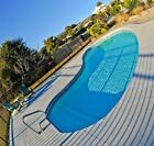 Fiberglass in ground pool Medium 13 9 x 29 W  AUTOMATED Salt Water system