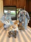 Lladro 5745 5746 and 5747 Jesus Mary and St Joesph Nativity Set Perfect