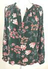 Altard State Emerald Tunic Top Blouse Floral Pink Green Sz Small S