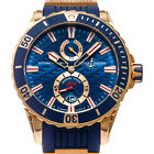 Rose Gold Ulysse Nardin Maxi Marine Diver Automatic 44mm 266-10-3/93 Blue Dial
