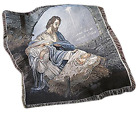 Come Let Us Adore Him Woven Tapestry Nativity Throw Blanket 60 Inch