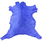 SALE Blue Leather Hide Genuine Skins Craft DIY Fabric Upholstery Material 964 5