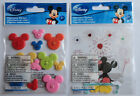 Disney Fireworks AND Mickey Icon Buttons Scrapbook Sticker Sheet