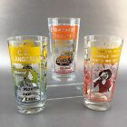 CB Radio Trucker Tumblers Bar Glasses Set of 3 Vintage Humor Novelty 1970s