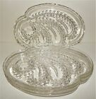 Federal Glass Hospitality Snack Master Homestead 4 Clear Glass Luncheon Plates