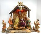 FONTANINI HEIRLOOM Musical Lighted Nativity Stable Creche w 12 5 Figurines