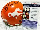 Bradley Chubb Signed Vintage Denver Broncos Mini Helmet In Person JSA CERTIFIED