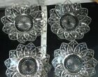 Vintage Glass 9pc Star Cross Petal Edge Plates Glassware Snack Serving Dishes