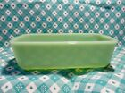Vintage Fire King Jadeite Loaf Pan 5 x 9 in Very Good Condition.