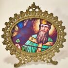 ORIGINAL Antique Victorian SHAMROCK Clover Easel FRAME ~ St Patrick~Paddy's Day~