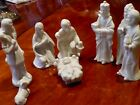 White Christian Nativity Set Christmas Manger Scene Made in Taiwan Paper Tag
