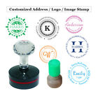 Round Custom Self Inking Stamp Personalized Signature Image Address Logo Stamp