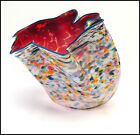 DALE CHIHULY Large ORIGINAL Hand Blown Glass Macchia Signed Color Basket Art