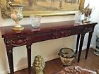 Antique Style Hand Carved English  Console Table