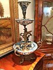 Antique Style  Epergne Hand Painted And Bronze
