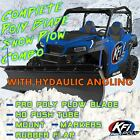 KFI 72 Hydraulic Angle Poly Plow Kit For 2009 2020 Kawasaki Mule 4010 4x4 UTV
