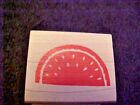 NEW Wood Mounted Stamp Watermellon Slice All Night Media