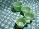 Jadeite Green Glass 4 Piece Set of Measuring Cups in Very Good to Excellent Cond