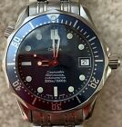 Midsize Omega Seamaster Professional 300M Blue Wave Dial Automatic Watch 2551.80