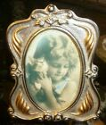 Vintage Oval Picture Frame Silver and Gold color  3.5