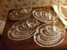 Vintage Wheat Glass Saucer and Cup Set of 4-Beautiful!