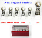 6 Pcs Super Bowl Trophy Replica for New England Patriots & 5 Championship Rings
