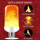 Lot E27 LED Flicker Flame Light Bulb Simulated Burn Fire Effect Party Decor USA