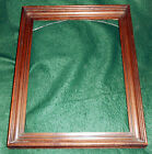 Antique Victorian 1880s Walnut Shadowbox Frame ~ Rabbet 13 5/8