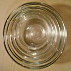 Vintage ~ Anchor Hocking Mini Clear Glass Nesting Bowls Set of 5