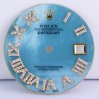 Rolex Custom Ice Blue MOP Dial for Datejust 36mm Roman Numbers set with Diamonds