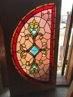 Sg 2826 Antique Jeweled Arch Window Stained Glass 275 X 51 5 8