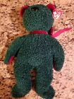 TY 2001 HOLIDAY TEDDY BEAR BEANIE BUDDY - MINT with MINT TAGS FREE SHIPPING