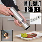 Automatic LED Electric Grinder Salt Pepper Sauce Pot Shaker Stainless Steel